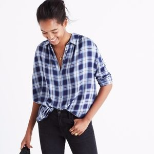 Madewell Central Lansford Plaid Shirt Small